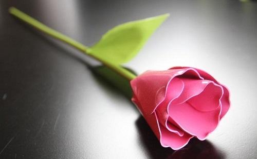 Metal Tulip Stake Pink