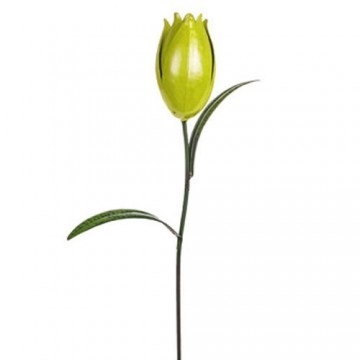 Metal Tulip Stake Yellow