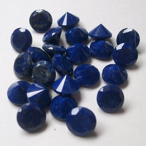 5mm Natural Lapis Lazuli Faceted Round Gemstone