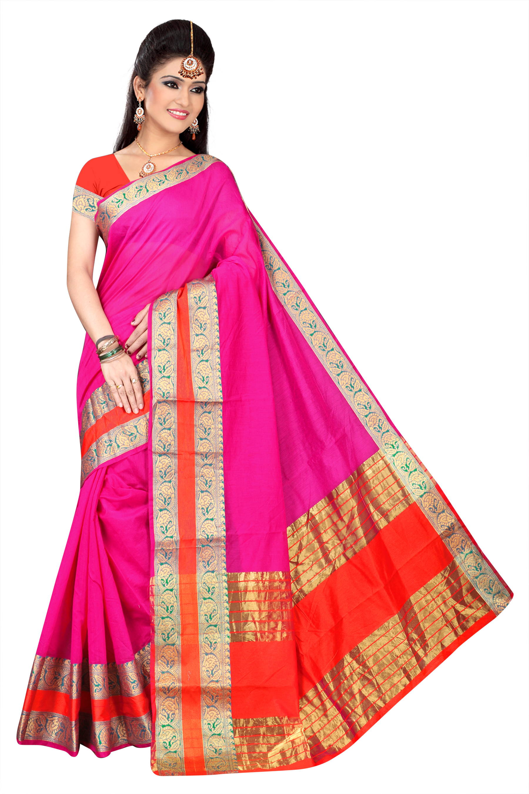 Women's Jacquard Work Silk Saree