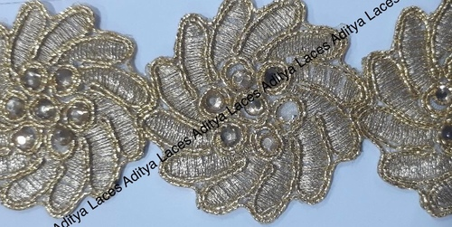 Beaded Cut Work Lace