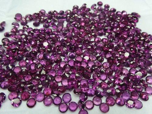 2.25mm Natural Rhodolite Garnet Faceted Round Cut Gemstone