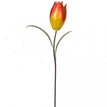 Metal Tulip Stake Orange