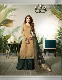 Fancy Banarasi Jacquard Suits