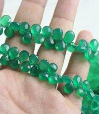 Green Onyx Pears Beads