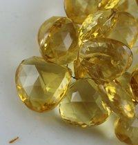 Citrine Heart Beads