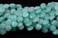 Amazonite Heart Shape Beads