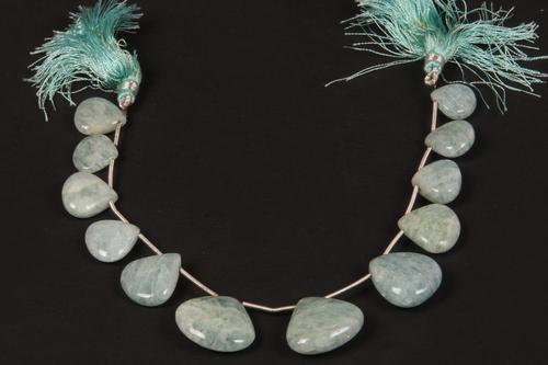 Moss Aquamarine Beads