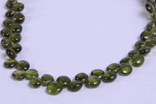 Vessonite Heart Beads