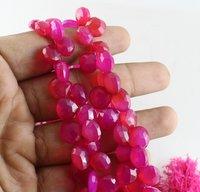 Magenta Chalcedony Beads