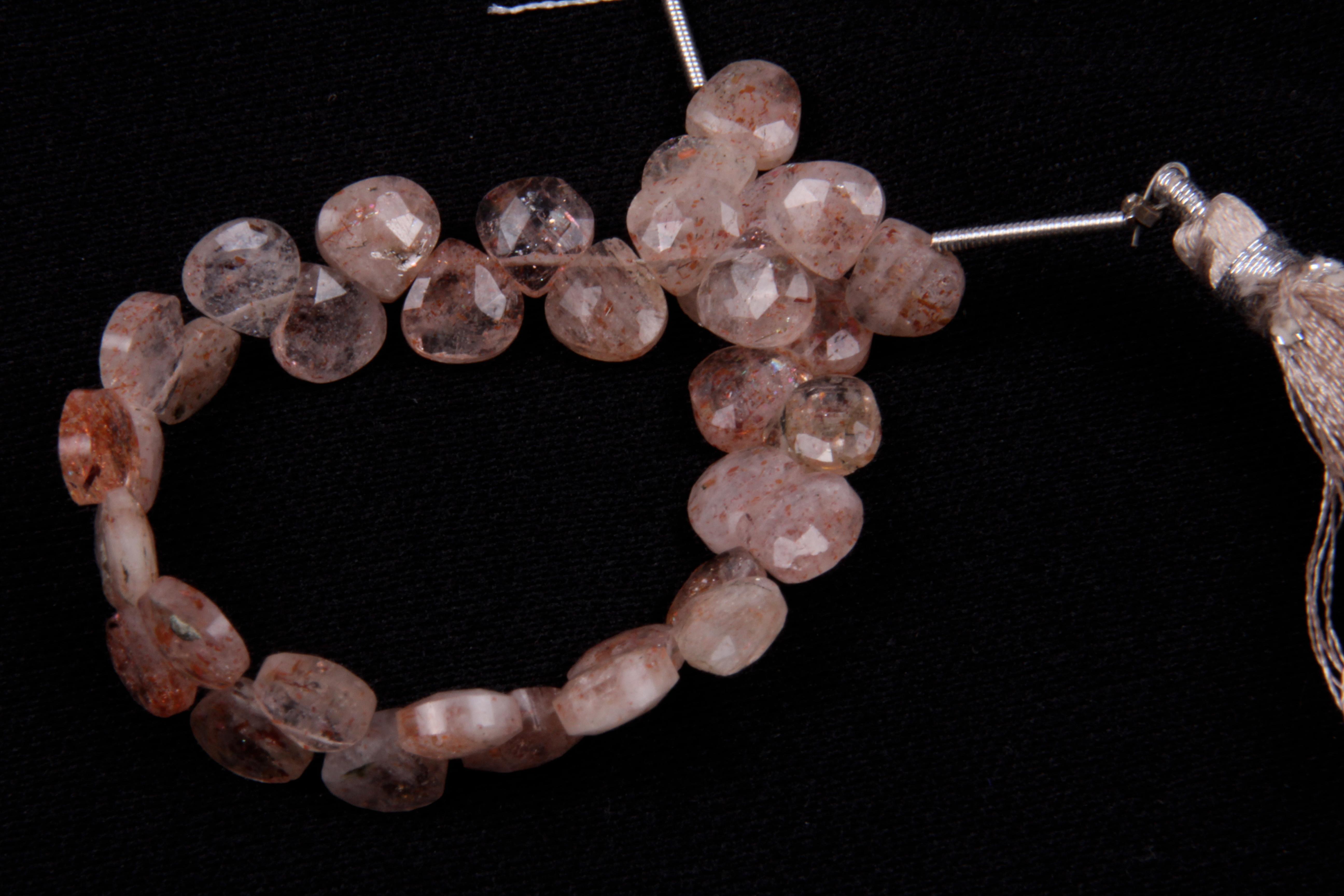 Mix Gemstone Heart Shape Beads