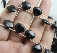 Black Spinel Heart Beads