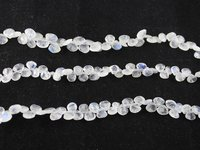 Rainbow Moonstone Heart Beads