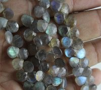 Labradorite Heart Beads