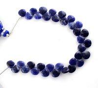 Sodalite Heart Beads
