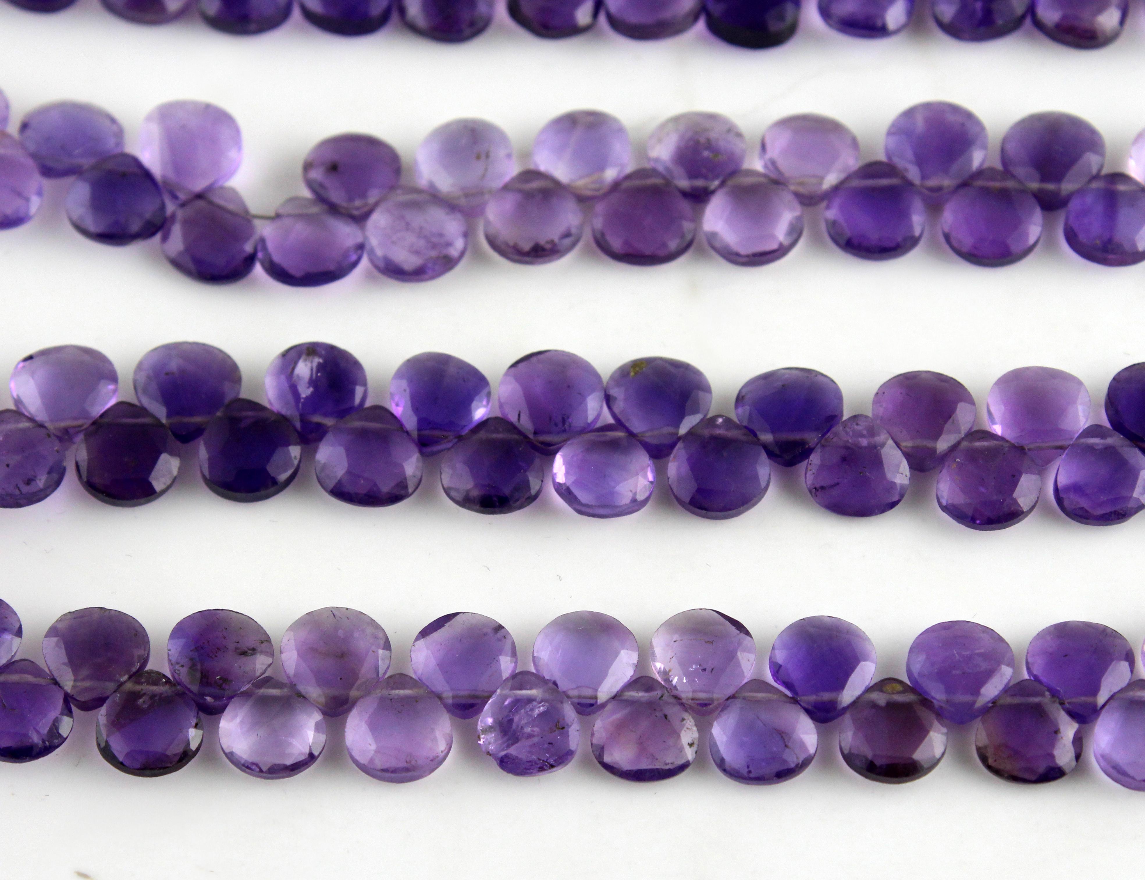 Amethyst Heart Beads