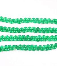 Green Onyx Heart Beads