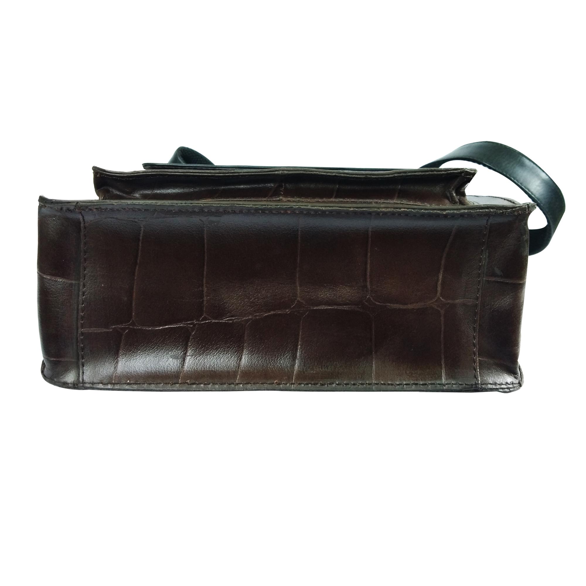 Leather Crossbody Office Bag