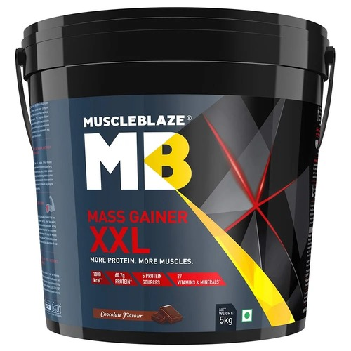 MuscleBlaze Mass Gainer XXL, 11 lb(5kg) Chocolate