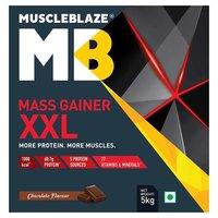 MuscleBlaze Mass Gainer XXL, 11 lb(5kg) Chocolate