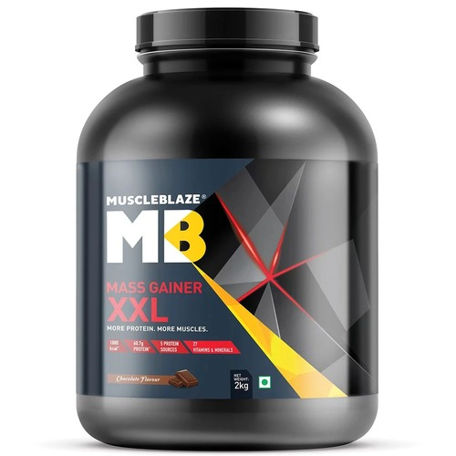 MuscleBlaze Mass Gainer XXL, 4.4 lb(2kg) Chocolate