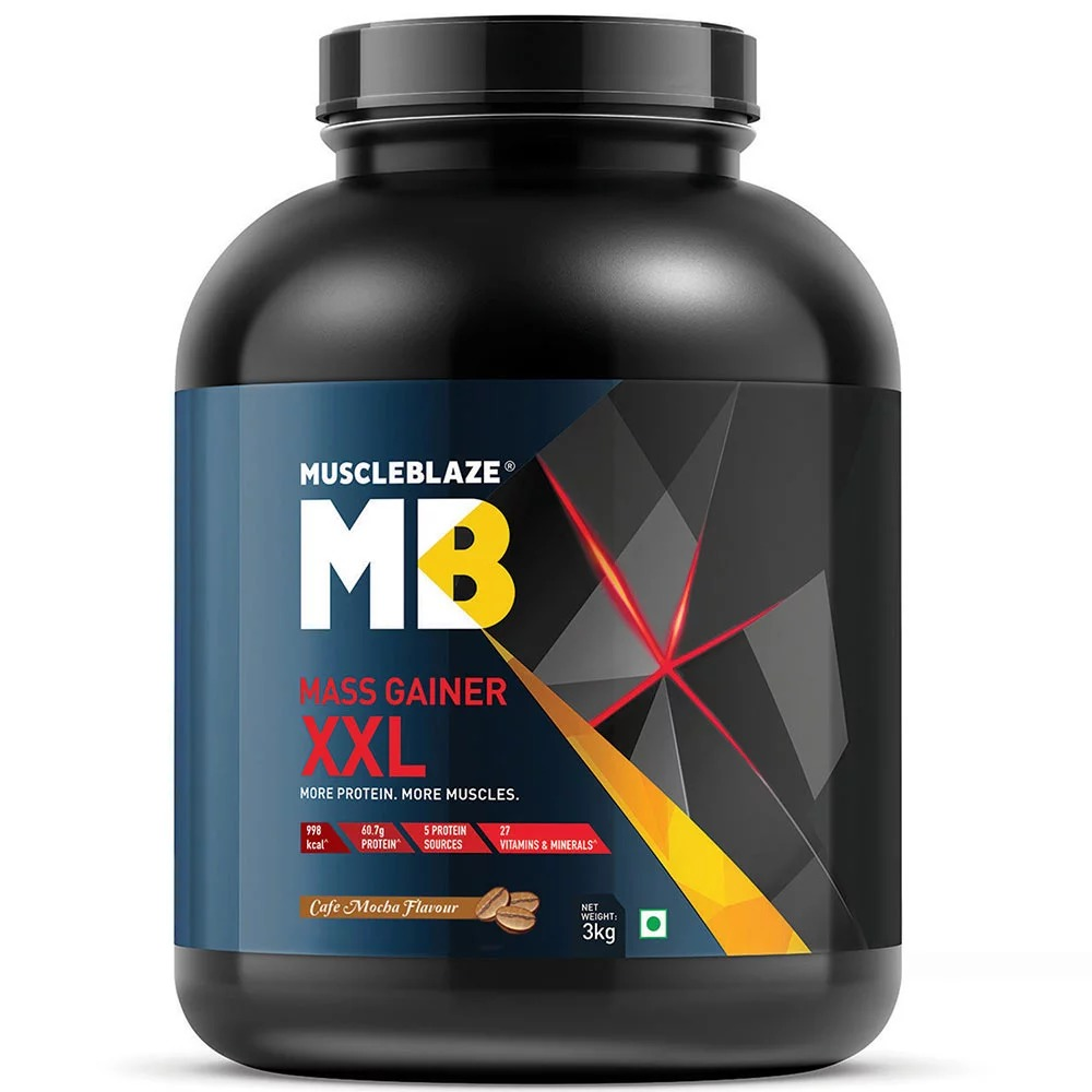 MuscleBlaze Mass Gainer XXL, 6.6 lb(3kg) Cafe Mocha