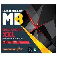 MuscleBlaze Mass Gainer XXL, 6.6 lb(3kg) Cookies & Cream