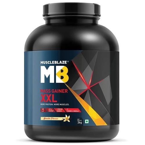 MuscleBlaze Mass Gainer XXL, 6.6 lb(3kg) Vanilla