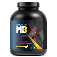 MuscleBlaze Mass Gainer XXL, 6.6 lb(3kg) Banana Cream
