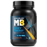MuscleBlaze Whey Energy with Digezyme, 2.2 lb (1kg)Chocolate