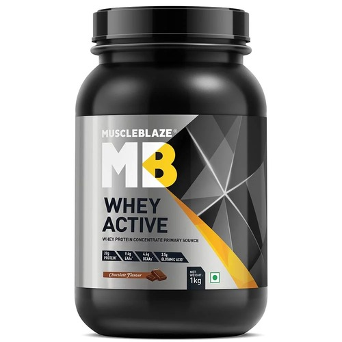 MuscleBlaze Whey Active, 2.2 lb(1kg) Chocolate