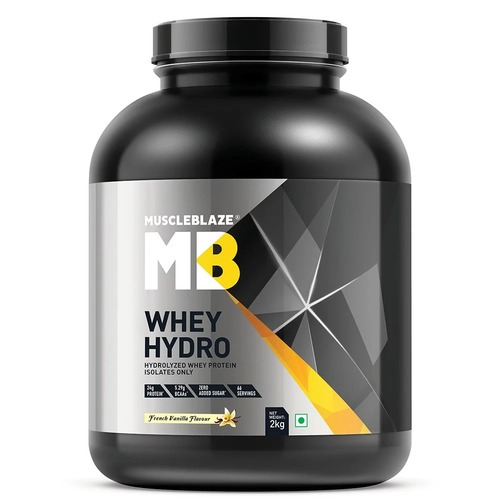 MuscleBlaze Whey Hydro, 4.4 lb(2kg) French Vanilla