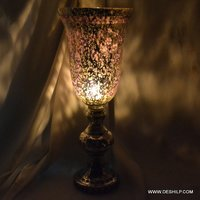 Hurricane Candle Holder With Silver Finish