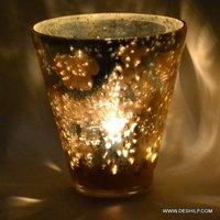 Golden Color Silver Decor Votive