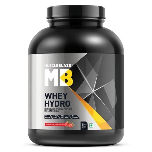 MuscleBlaze Whey Hydro, 4.4 lb(2kg) Strawberry Shake