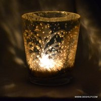 Silver Decor T Light Candle Holder