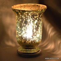 Hurricane Silver T-Light Candle Holder