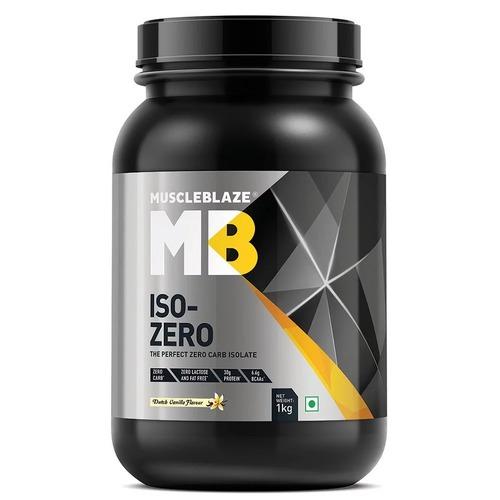 MuscleBlaze Iso-Zero, 2.2 lb(1kg) Zero Carb Dutch Vanilla