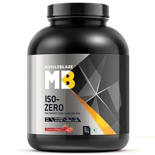 MuscleBlaze Iso-Zero, 4.4 lb(2kg) Zero Carb Strawberry