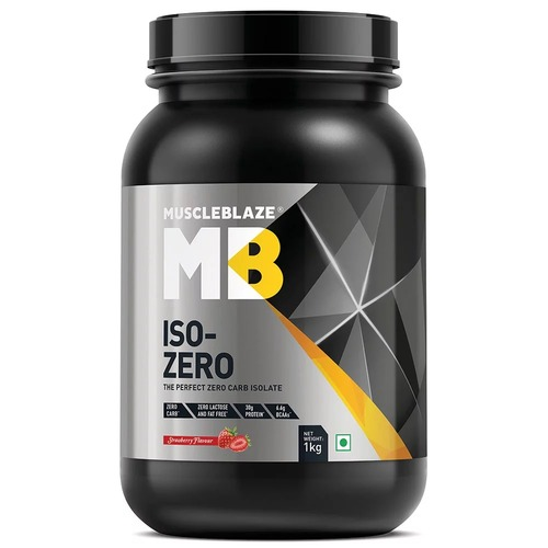 MuscleBlaze Iso-Zero, 2.2 lb(1kg) Zero Carb Strawberry