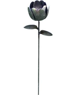 Metal Tulip Spoon Garden Stake