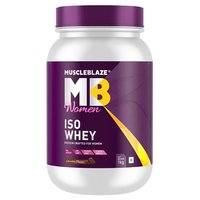 MuscleBlaze Iso-Whey Women Protein, 2.2 lb(1kg) Chocolate