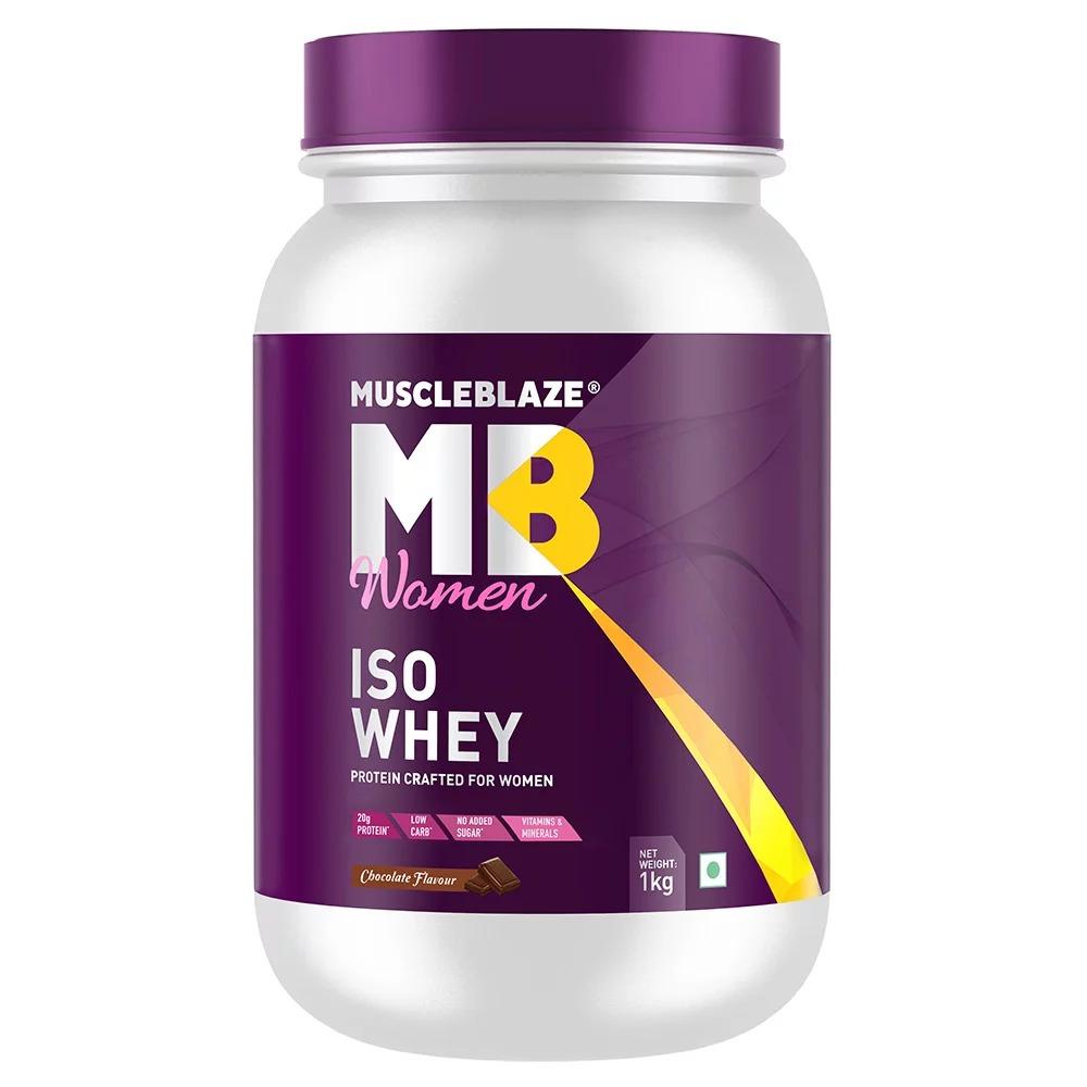 MuscleBlaze Iso-Whey Women Protein, 2.2 lb(1kg) Chocolate