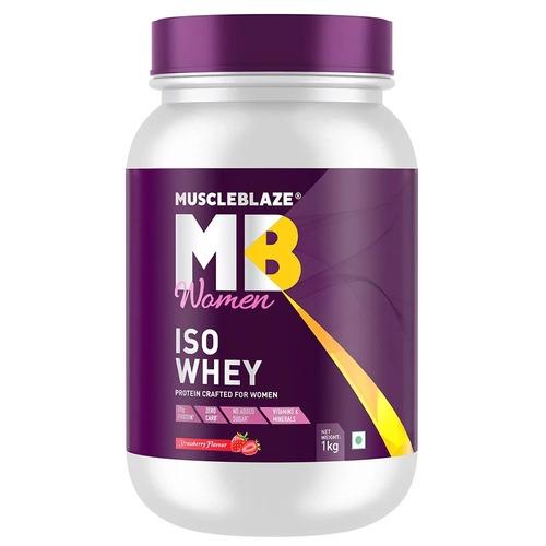 MuscleBlaze Iso-Whey Women Protein, 2.2 lb(1kg) Strawberry