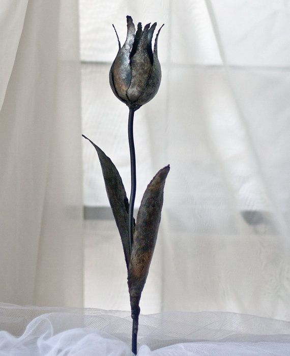 Tulip Flower Brooch Gorgeous Sleek Charming
