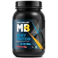 MuscleBlaze Whey Protein, 2.2 lb(1kg) Strawberry