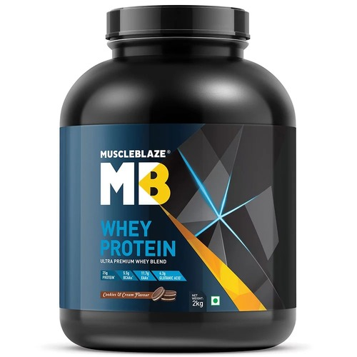 MuscleBlaze Whey Protein, 4.4 lb(2kg) Cookies and Cream