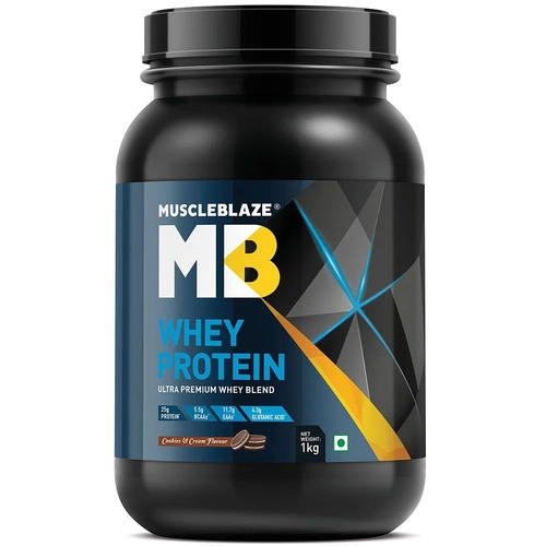 MuscleBlaze Whey Protein, 2.2 lb (1kg)Cookies and Cream