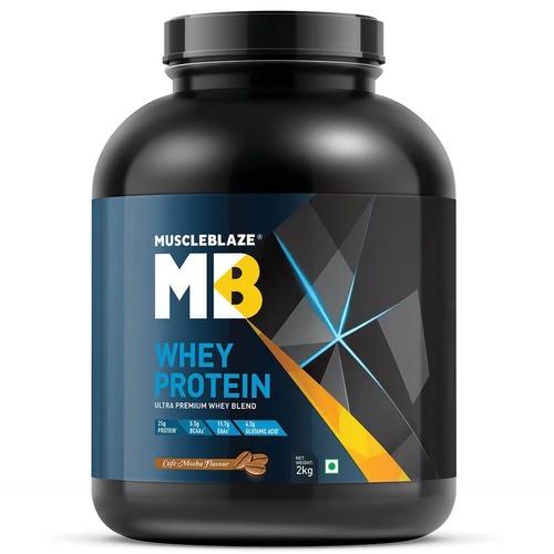 MuscleBlaze Whey Protein, 4.4 lb(2kg) Cafe Mocha