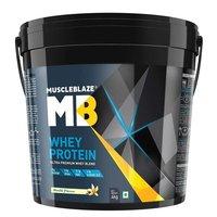 MuscleBlaze Whey Protein, 8.8 lb(4kg) Vanilla
